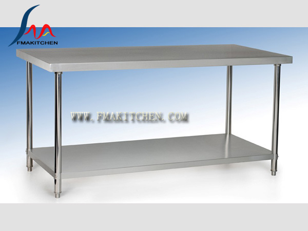 Stainless Steel Work Table/Assembing Working Table/Kitchen Table/Workbench (Round tube) , Preparation Table, Many Design for Optional