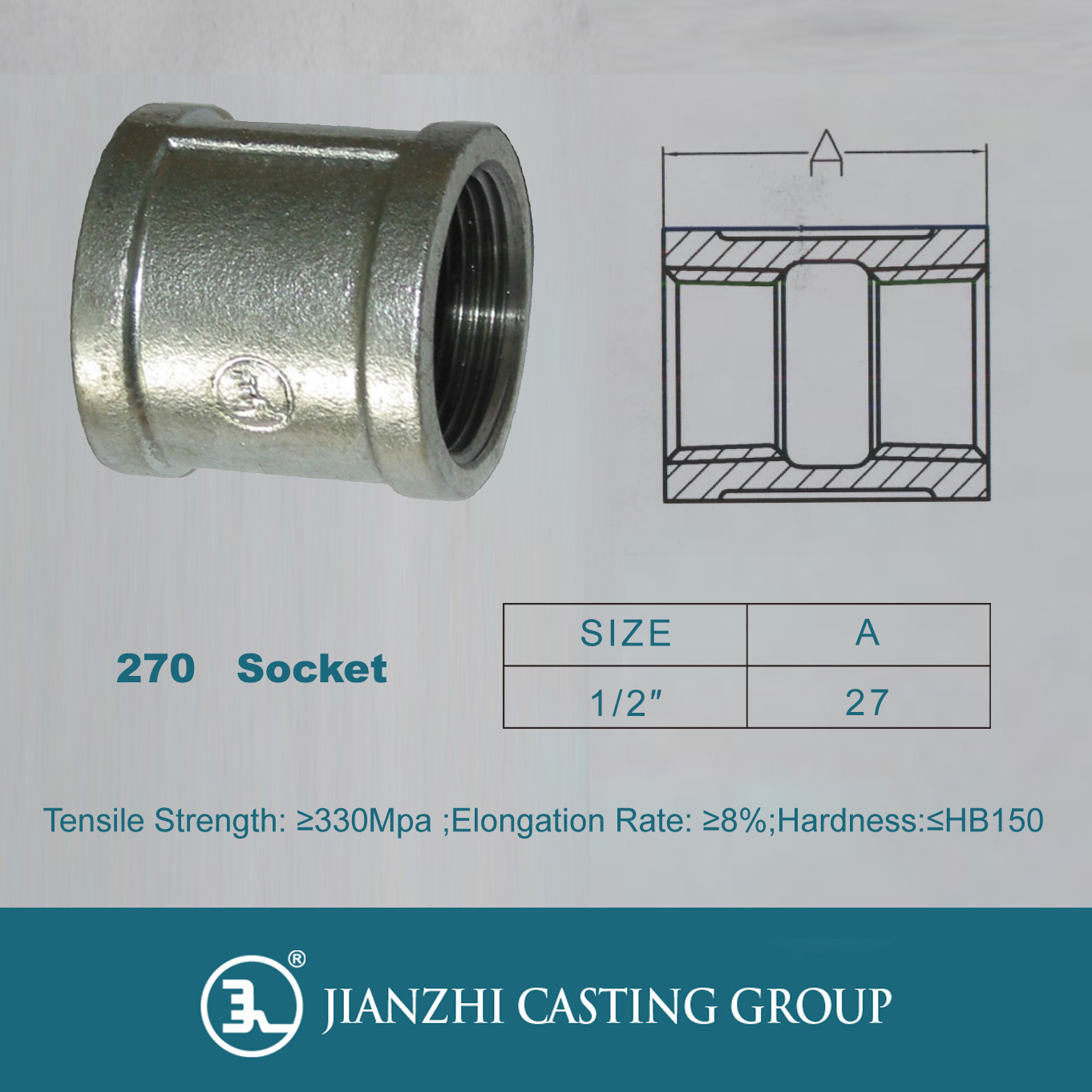 Malleable Iron Part Thread Socket