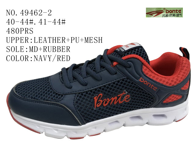 No. 49462 Three Color Men Sport Shoes Stock with Mesh
