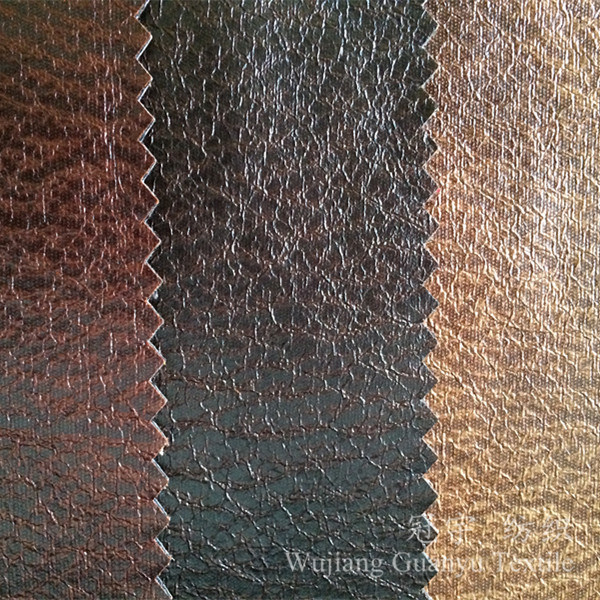 Printed Leather Polyester Suede Fabric for Sofa Covers