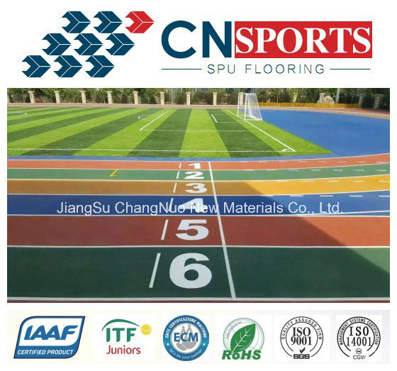 Self Knot SPU rubber Running Track/Runway for Sports Field