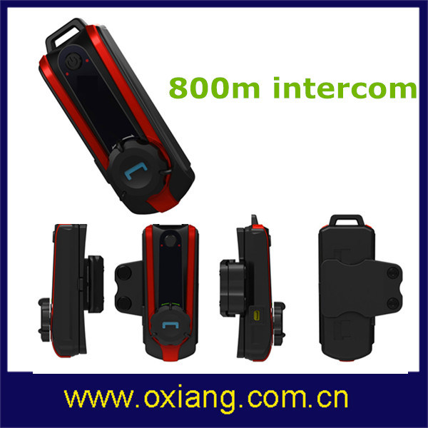 800m Motorcycle Bluetooth Headset/Intercom Through The Transmission Over A2dp