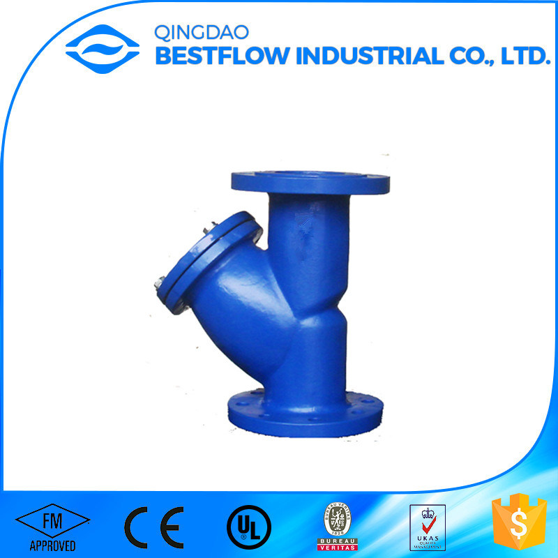 DIN/ANSI Cast Iron Flange End Y Strainers