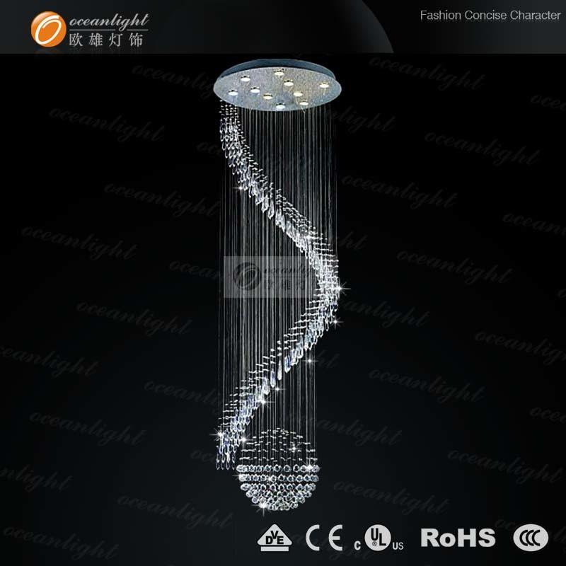 Stainless Steel Base K9 Crystal Pendant Lamp (OM9101)
