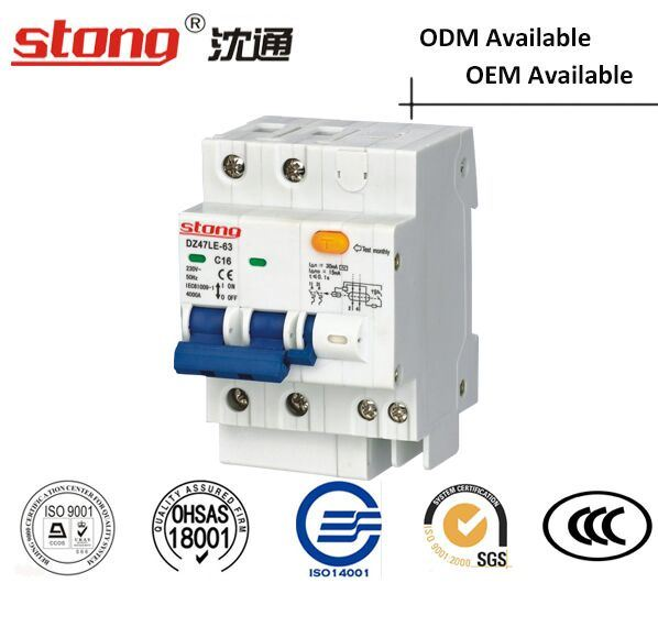 Dz47le-63 with Indicator Residual Current Air Mini Circuit Breaker