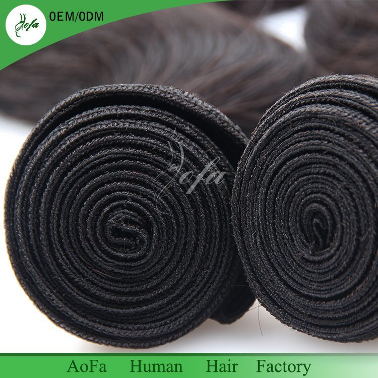 Unprocessed Wholesale Natural Black Color 1b# 100% Virgin Brazilian Hair