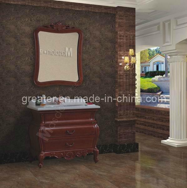 Gabinete Para Baño Madera:de cuarto de baño de madera pintada a mano (GD98506) – Cabina de
