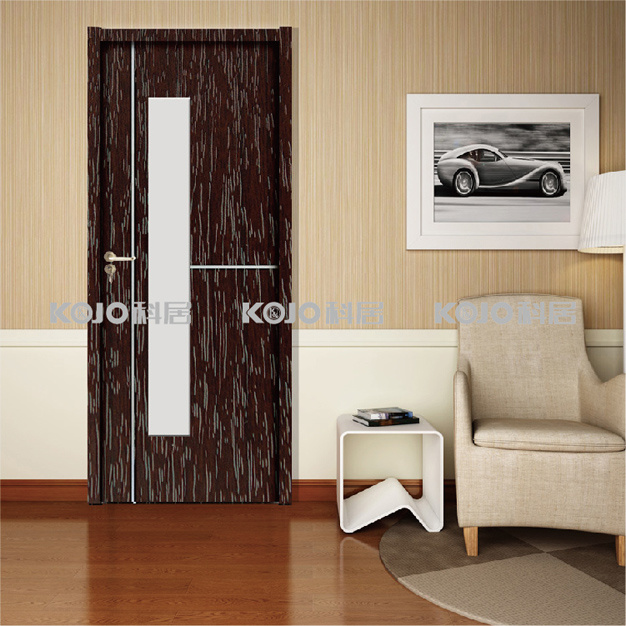 OEM/ODM Solid Moisture-Proof WPC Swing Door for Coastal Areas (KMB-06)
