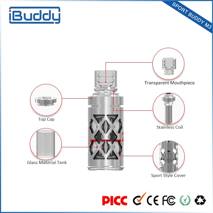 Hottest Upper-Intake Design 2.0ml Tank Electronic Cigarette Atomizer