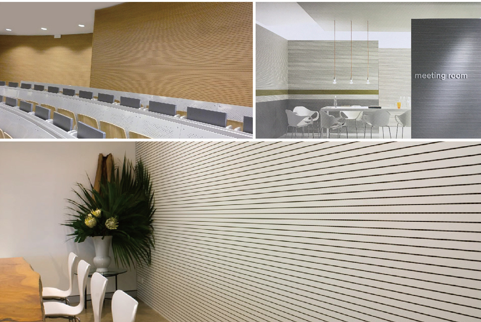 Veneer Finish Groove Acoustic Panel