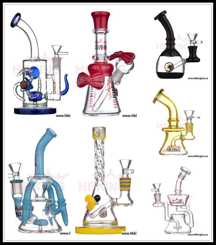 China Manufacturerglass Water Pipe, Electronic Cigarette Hookah Vaporizer Oil DAB Rig Recycler Percolator Beaker Glass Smoking Pipe
