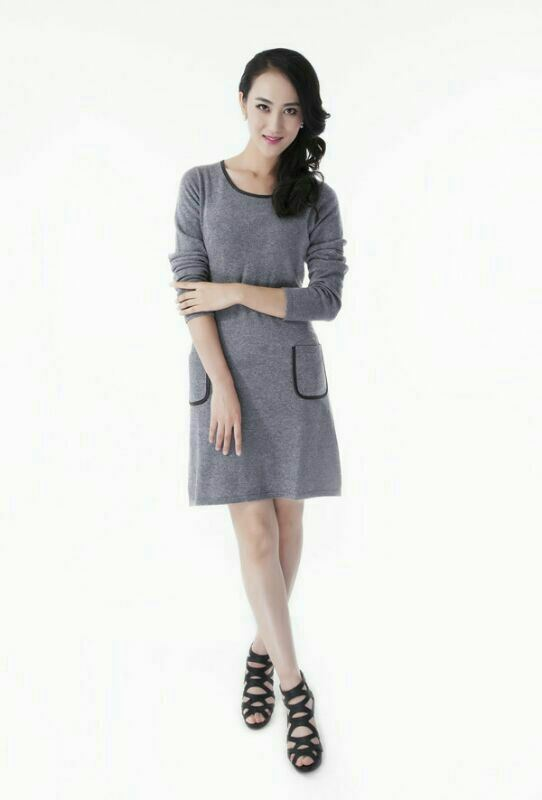 Trj015, 100%Cashmere, Lady&Women, with Real Leather Side, Good Quality, Coat