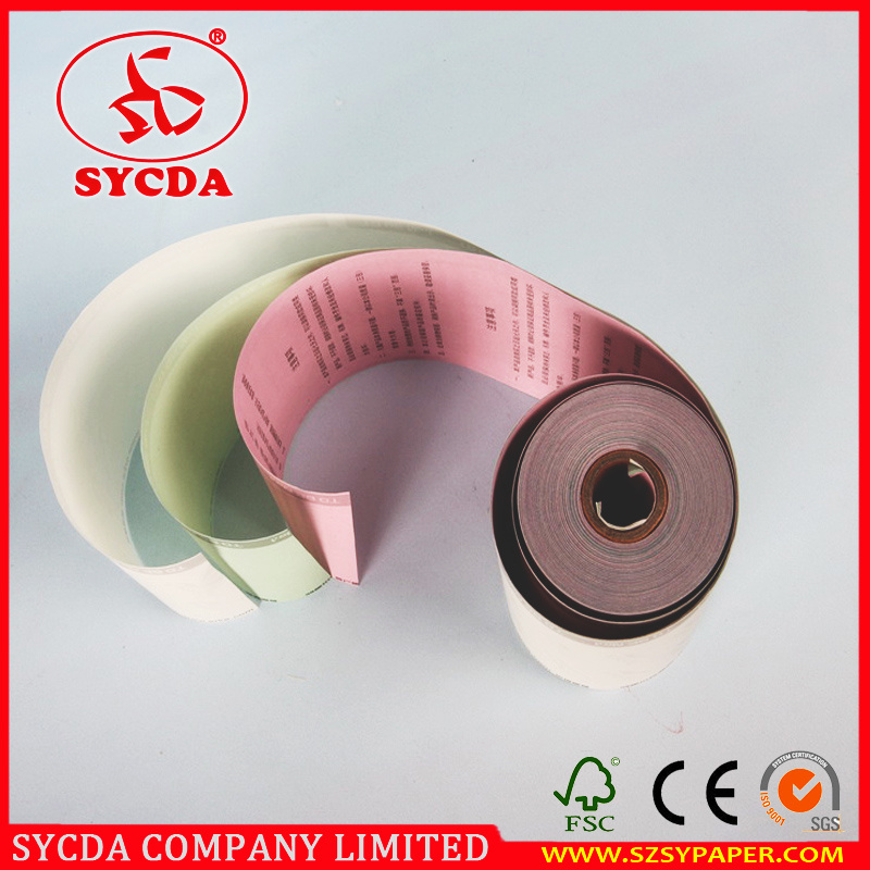 3ply 55g Carbonless Paper Rolls Cash Register Paper Roll