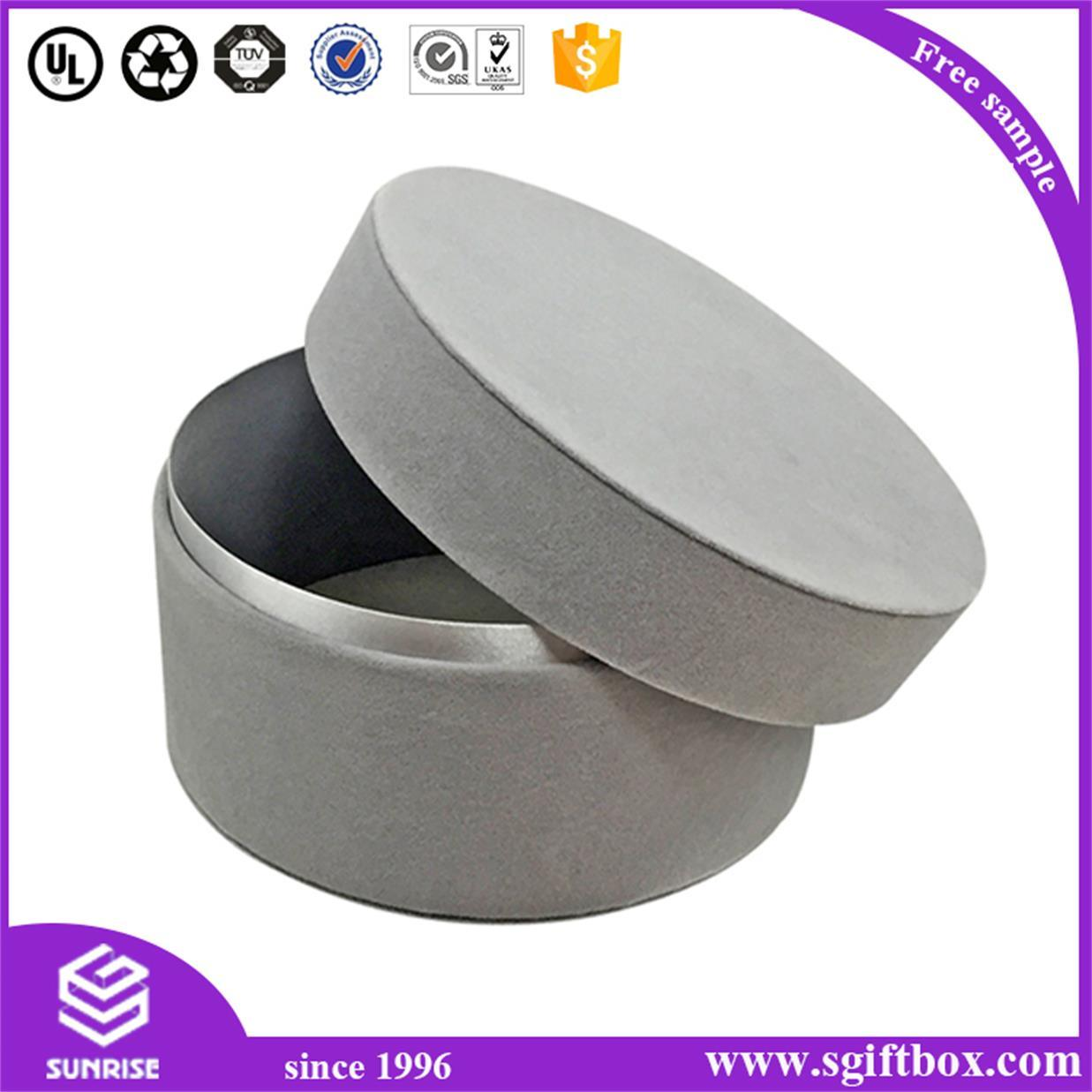 Printed Custom Cylinder Packaging Flower Round Paper Box