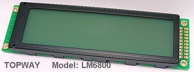 256X64 Graphic LCD Display COB Type LCD Module (LM6800) Specially Designed for 1u Case