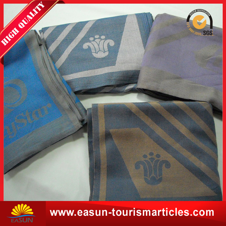 Promotional 100% Wholesale Cotton Woven Throw Blanket