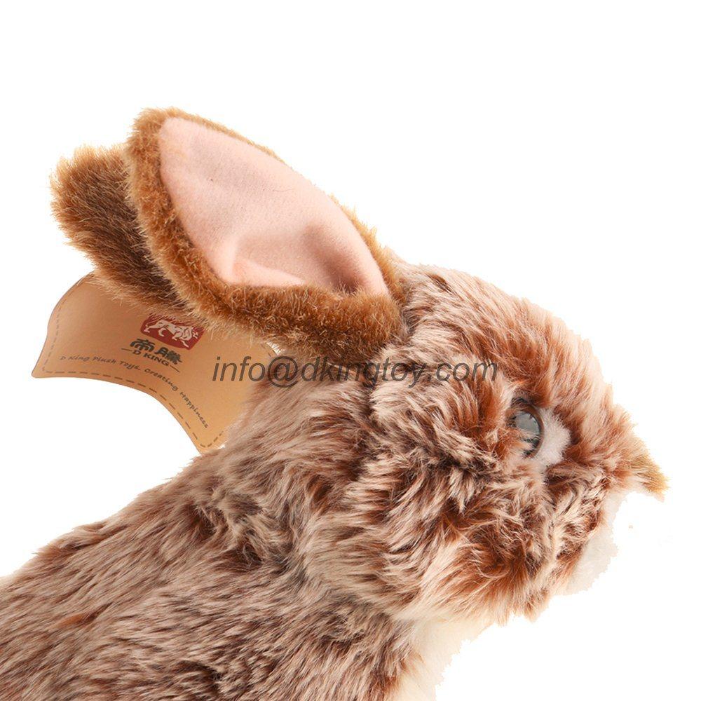 High Quality 9′′ Realistic Rabbit Stuffed Animal Soft Plush Toy