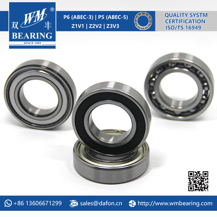 6006 2RS Low Friction Sealed Deep Groove Ball Bearing