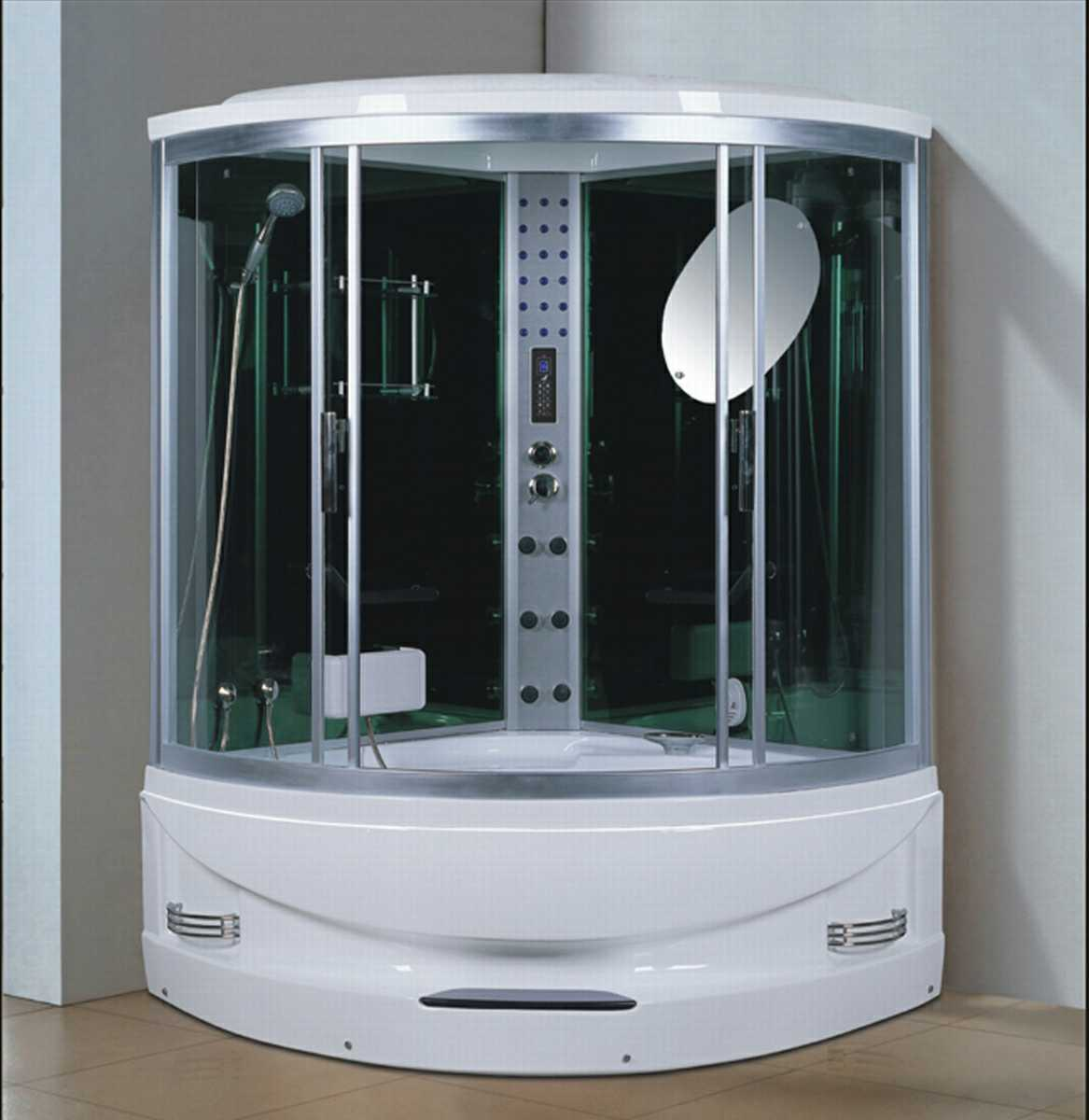 1450mm Sector Steam Sauna with Jacuzzi and Shower for 2 Persons (AT-GT2145F)