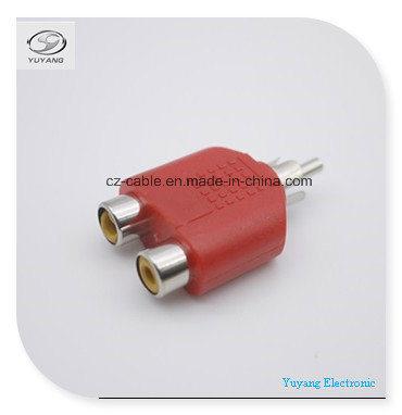 RCA/AV/Audio Adapter/Plug to 2xrca/2r Jacks for RCA/Audio/AV Cable (R to 2R, R-2R)