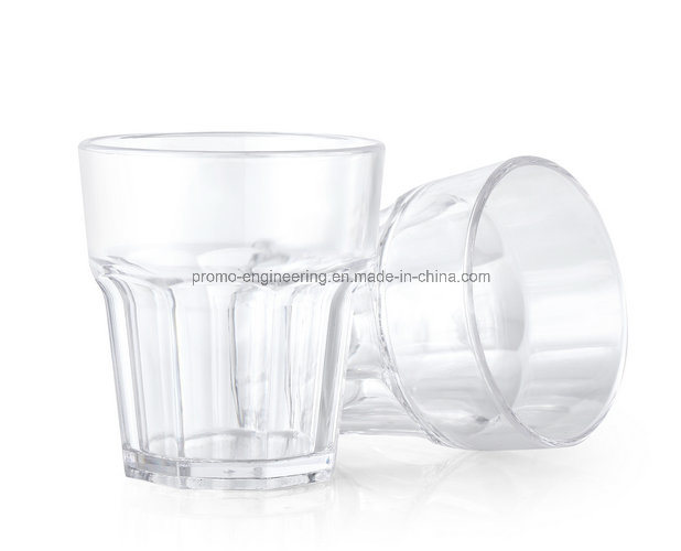 200ml Plastic Whiskey Glass with Octagon Shape