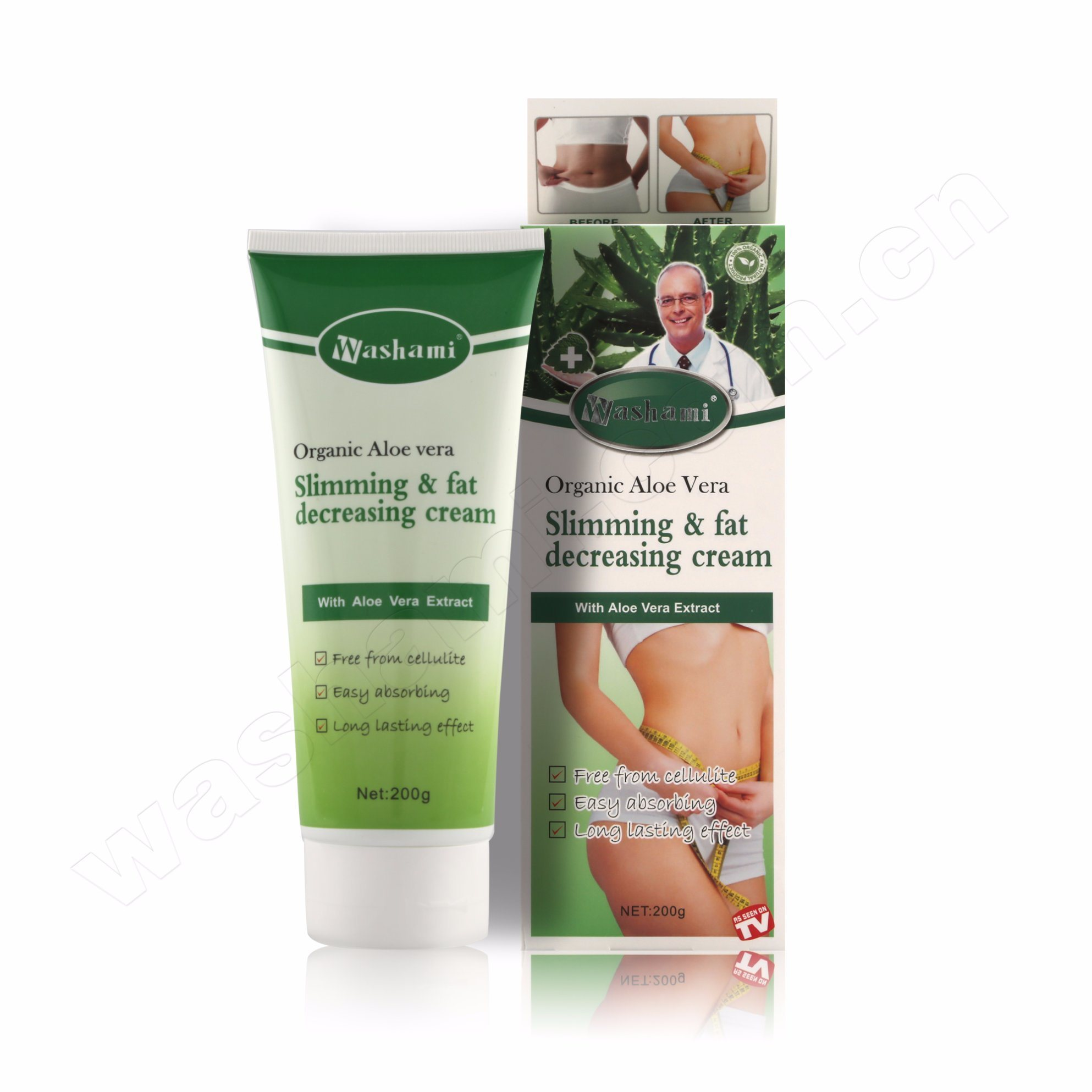 Washami 3 Days Body Slimming Cream with Geen Tea, Chilli, Aloe Vera