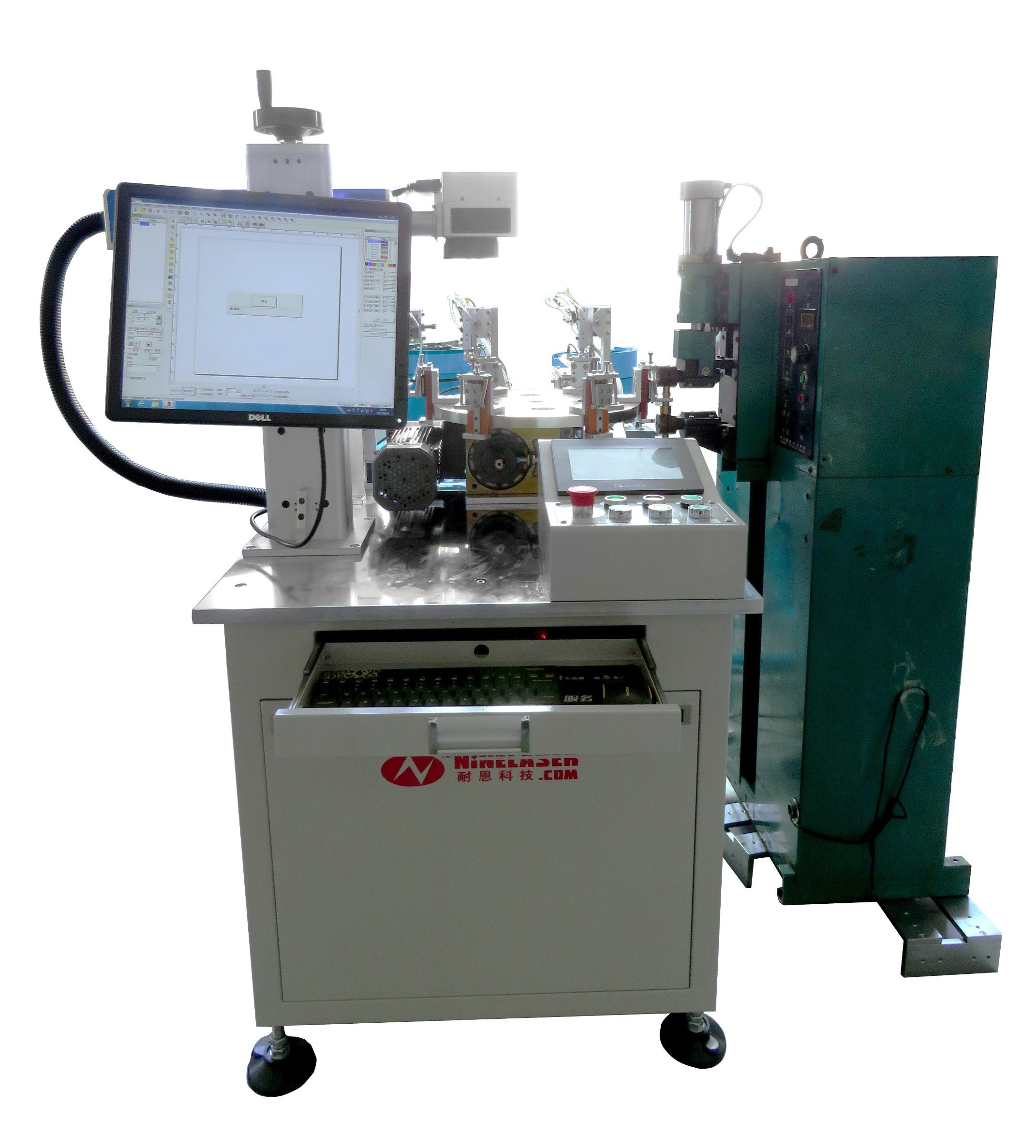 Automatic Laser Welding and Engraving Machine for Sodering and Marking Motor Shell Cases