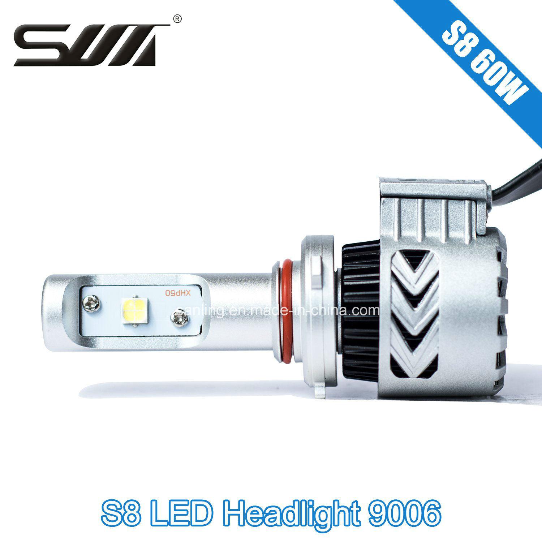 High Efficiency 60W S8 LED Headlamps 9006/Hb4 LED Headlight Bulbs