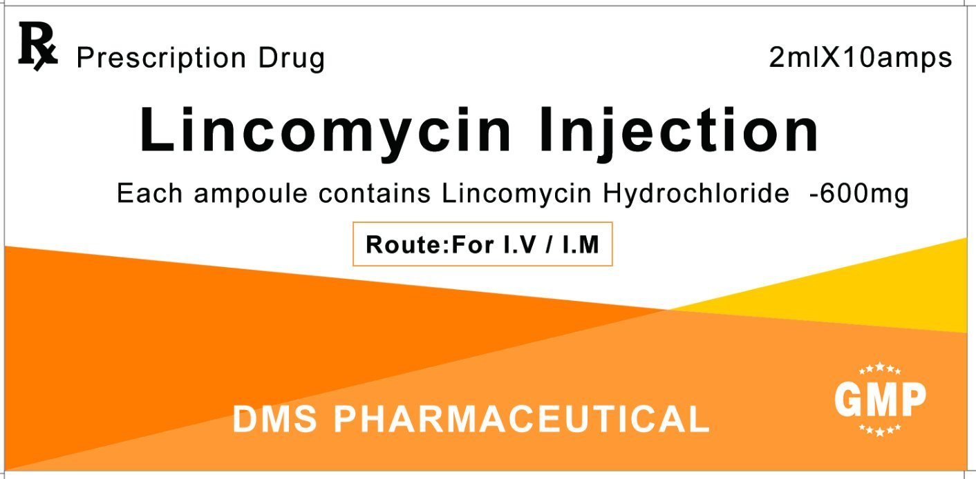 API Approved FDA Lincomycin Hydrochloride CAS No.: 859-18-7 for Injection 600mg/2ml