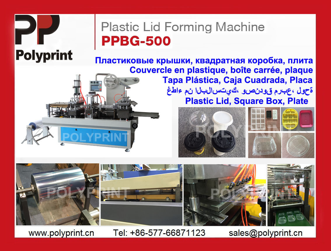 Biodegradable PLA Mateiral Lid Thermoforming Machine