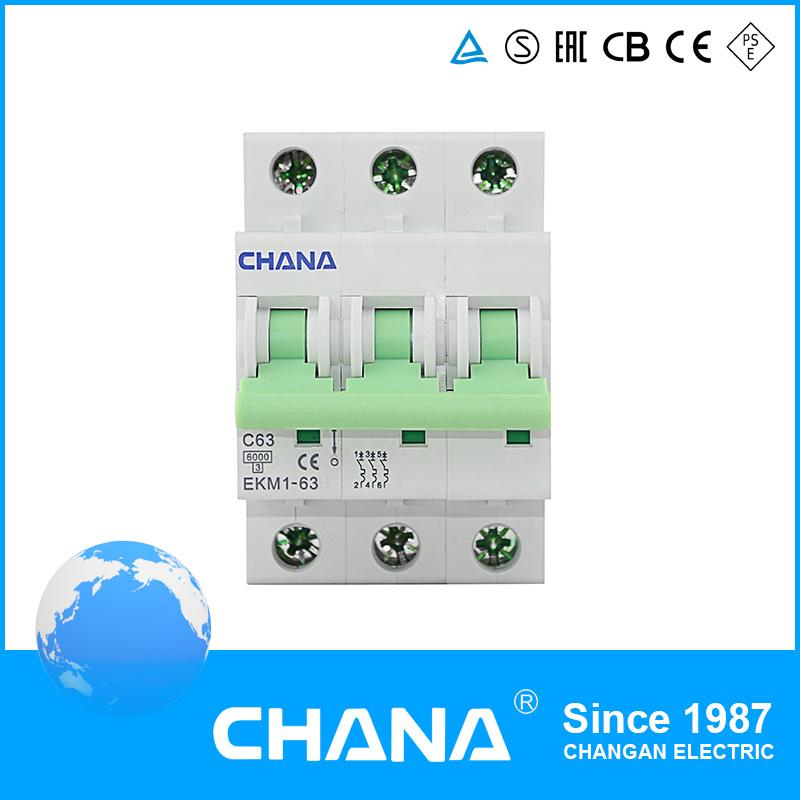 L7 Ekm1-63 IEC Standard Cecb Certificated Miniature Circuit Breaker MCB