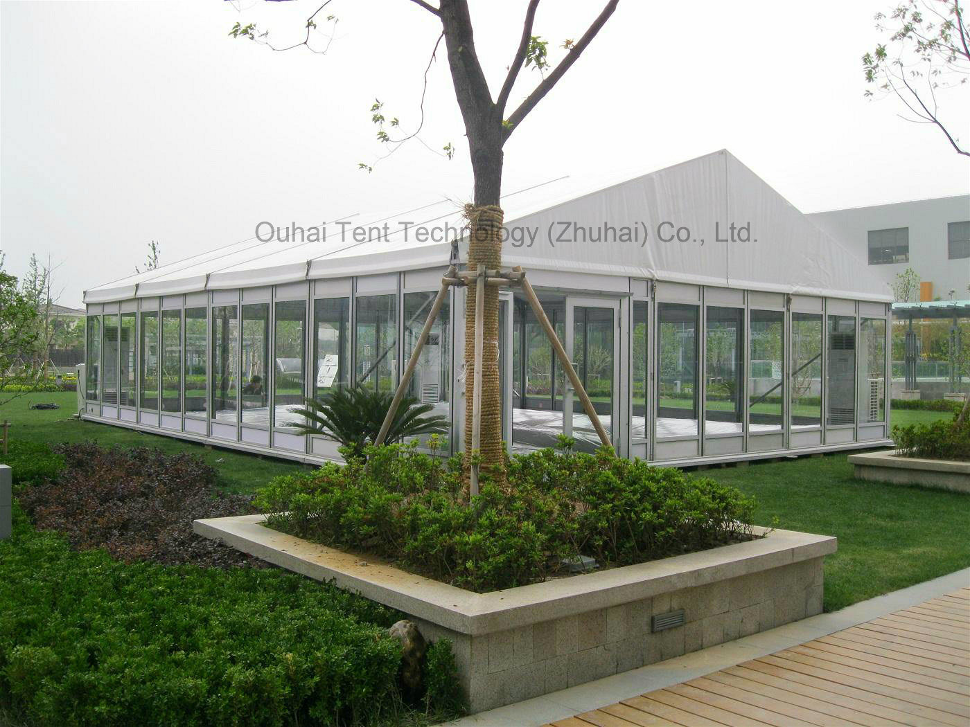 Beautiful 9m X 12m Party Tent in 3m Bay with Glass Wall for Sale
