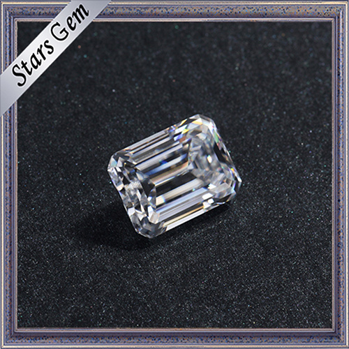 Hot Sale Clear White 1 Carat Emerald Cut Moissanite Diamond