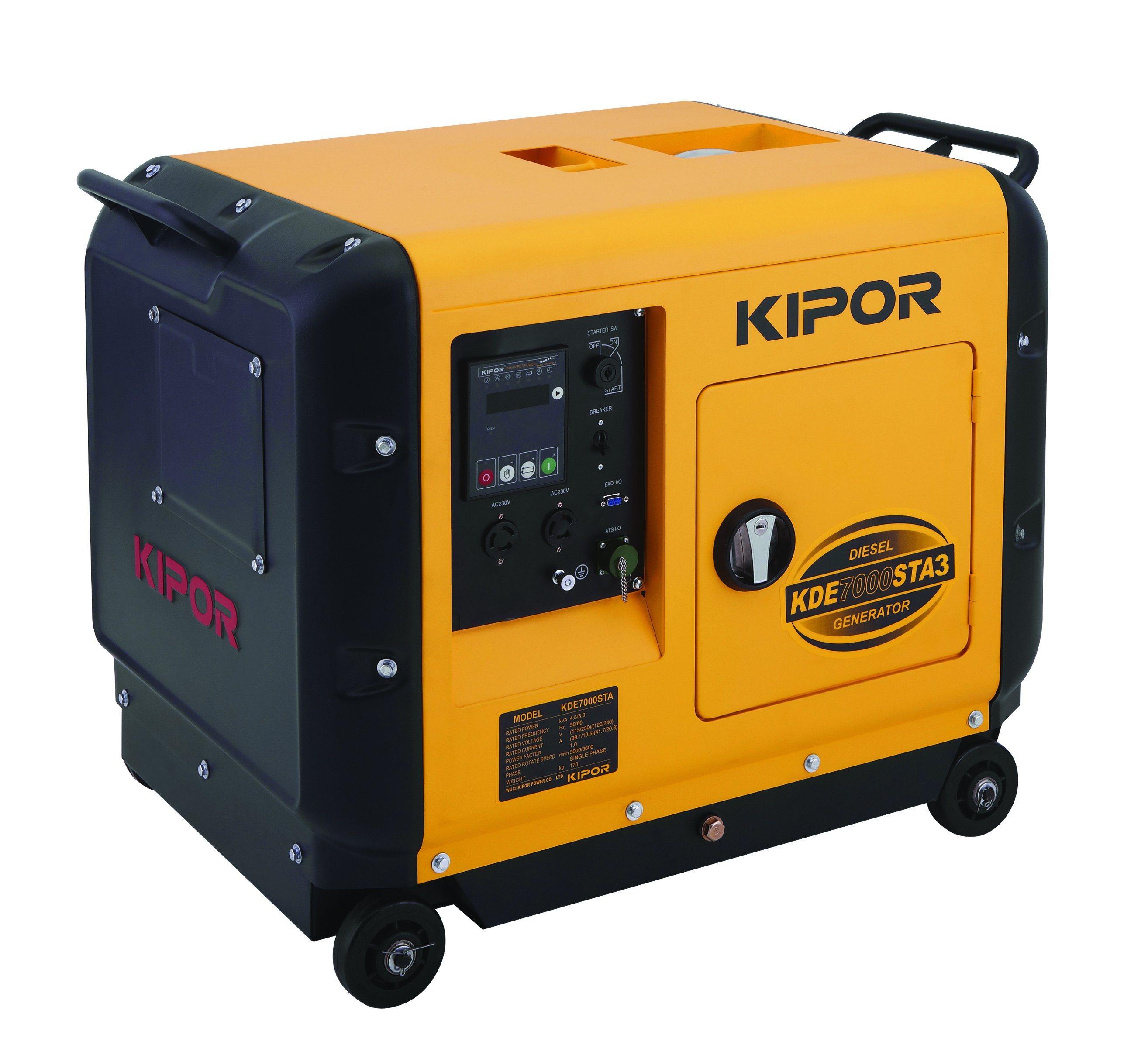 Kipor Super Silent Genset Diesel 6kVA Kde7000sta/Kde7000sta3