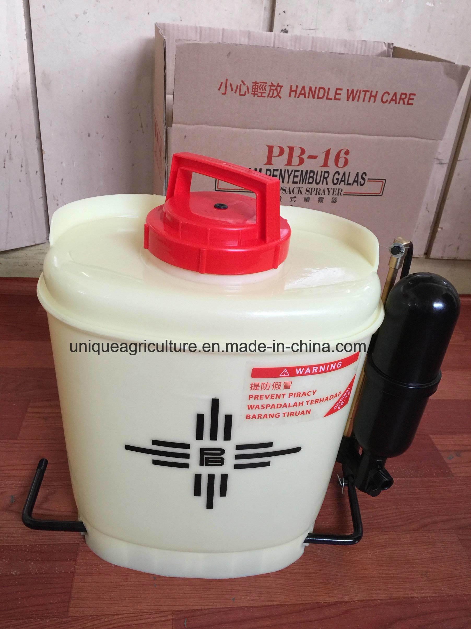 16 Liters Poly Hand Sprayer, Knapsack Manual Sprayer