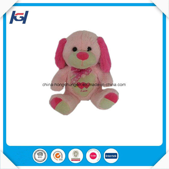 Cute Pink Bear with Heart Wholesale Baby Plush Toys Stuffed
