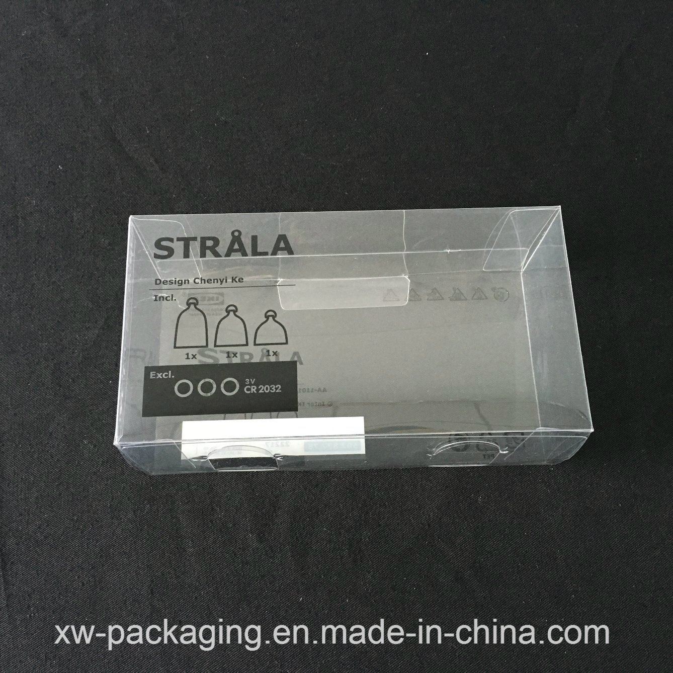 High Quality Clear Plastic Folding Box for Electronic Blister Packaging