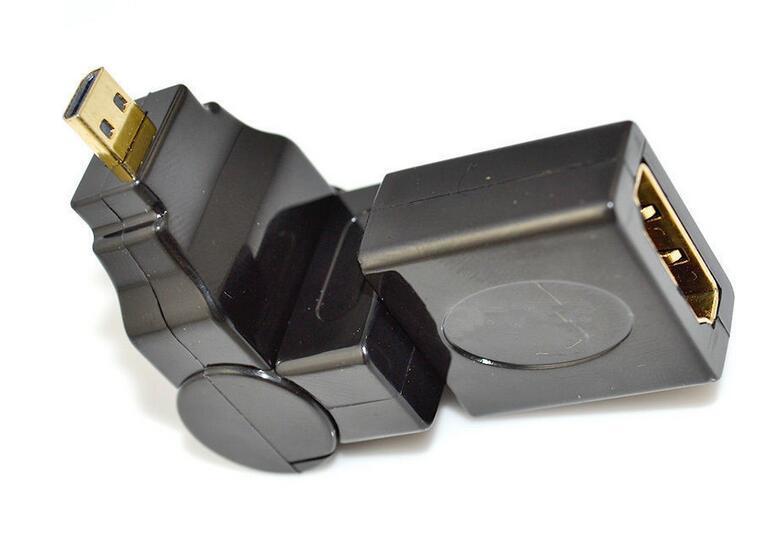 Micro HDMI Male to HDMI Female Adapter 360 Degree
