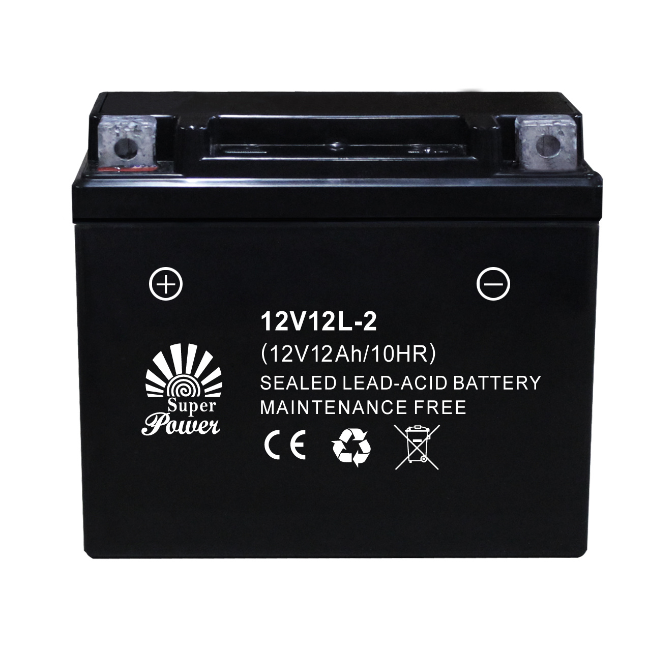 Sealed Maintenance Free Motorcycle Battery 12V12L-2 with CE UL Certificate