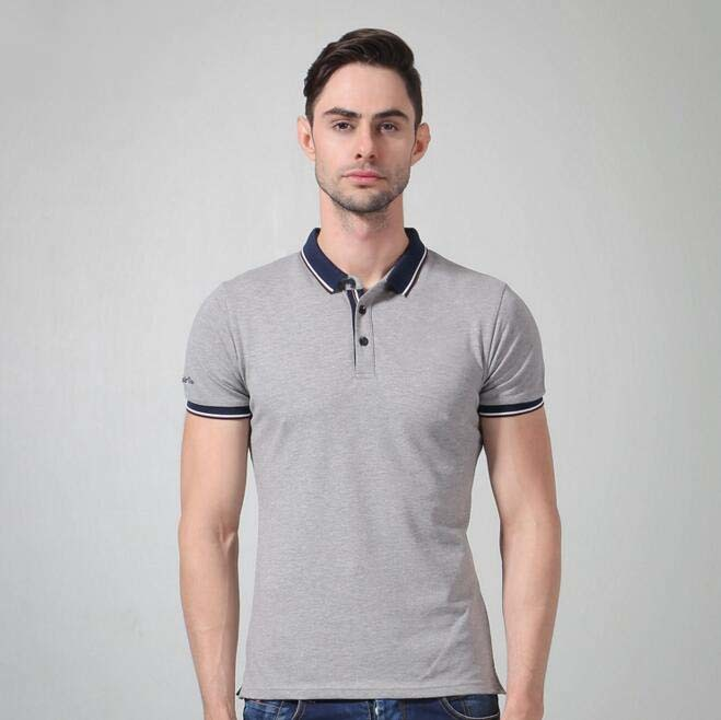 Custom Men′s Fashion Yarn Dyed Stripe Polo Shirt