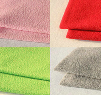 100% Polyester Knitted Brushed Tricot Fabric for Garment