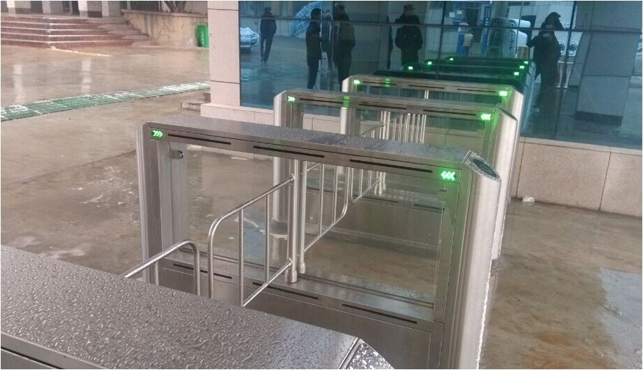 Security Access Control Swing Gate for Office Buildings Entrance/Exit