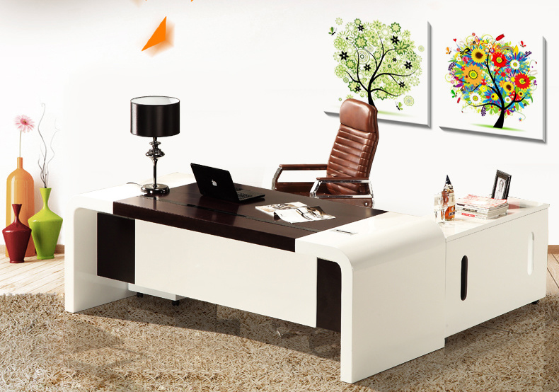 White Painting MDF School Executive Table Fashion Office Furniture (HX-AD809)