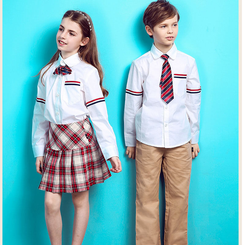 International School Design School Uniform for Kids of Cotton
