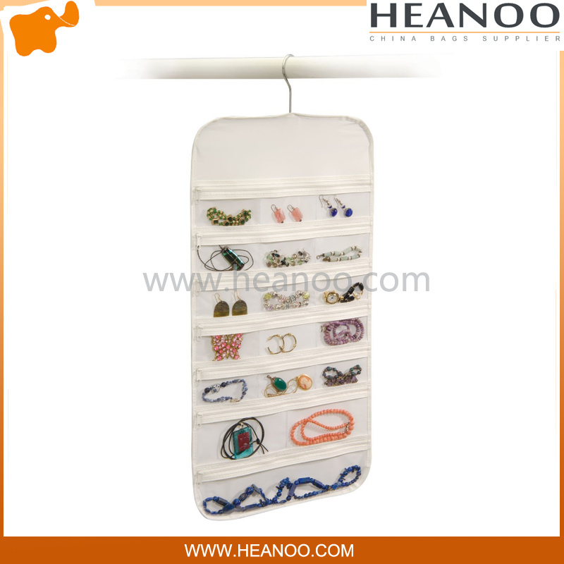 Jewelry Non Woven Cosmetic Hanging Storage Organizer Pocket Closet Bag