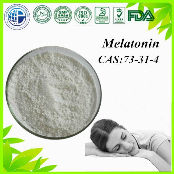 Melatonin / Melatonine GMP Pharmaceutical Chemicals Enhance The Body′s Immune Function CAS: 73-31-4