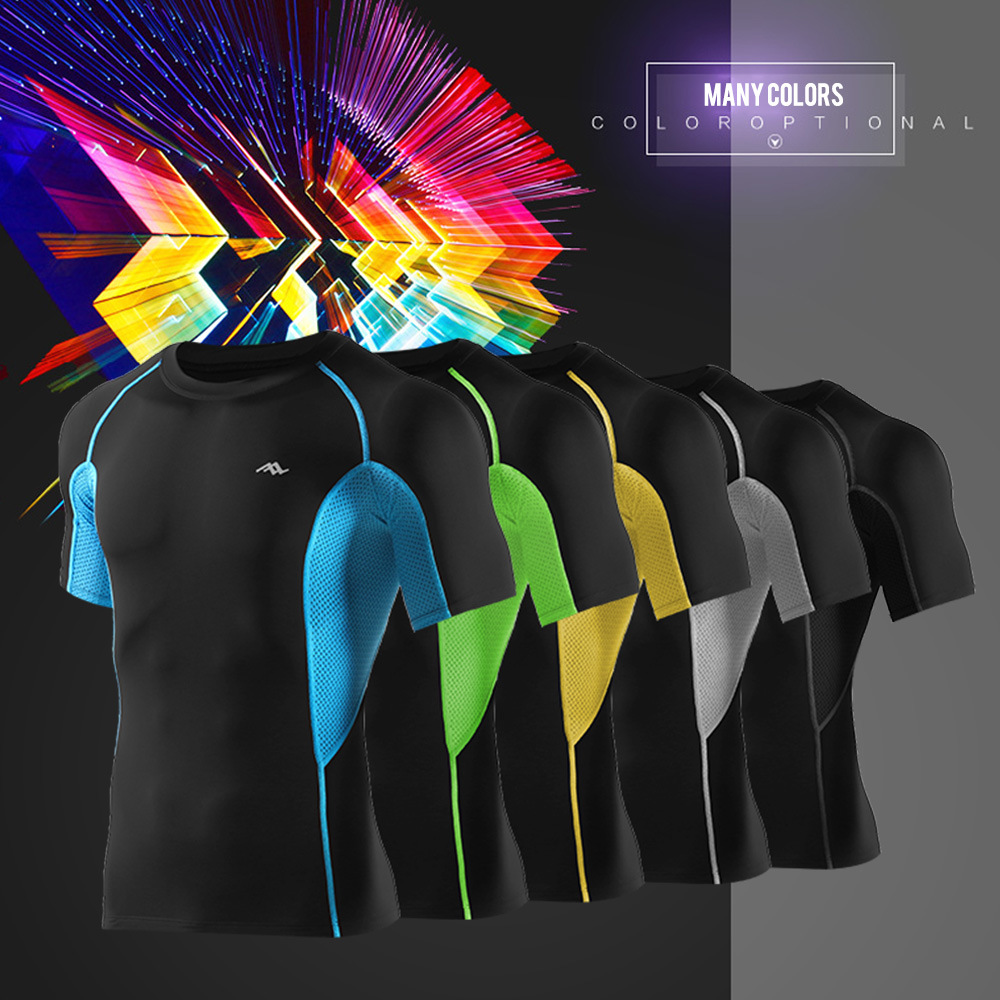 Men Cycling Shirts Compression Wear Sport Training Tops
