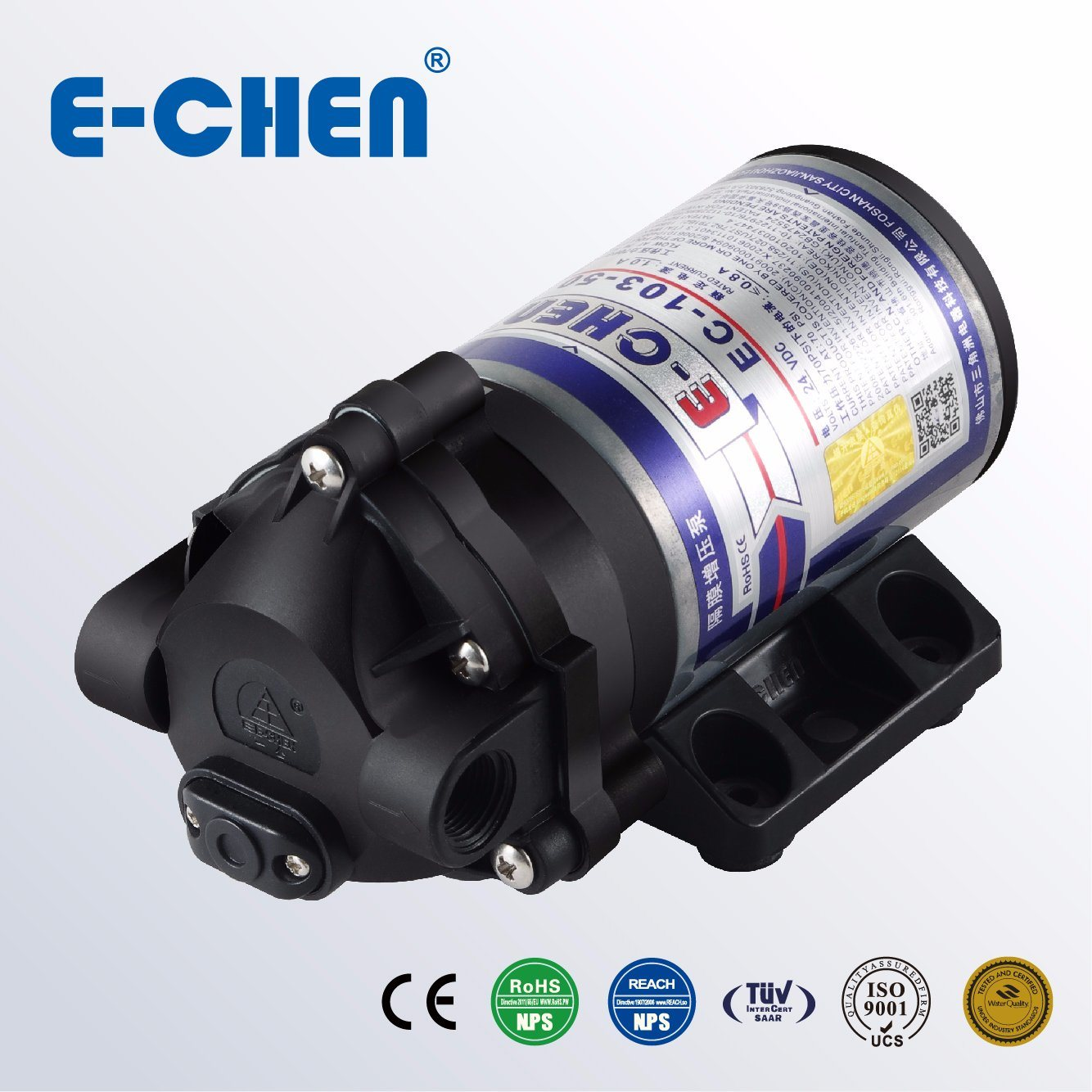 E-Chen RO Booster Pump 200gpd 1.6 L/M Home Reverse Osmosis Ec103 **Excellent**