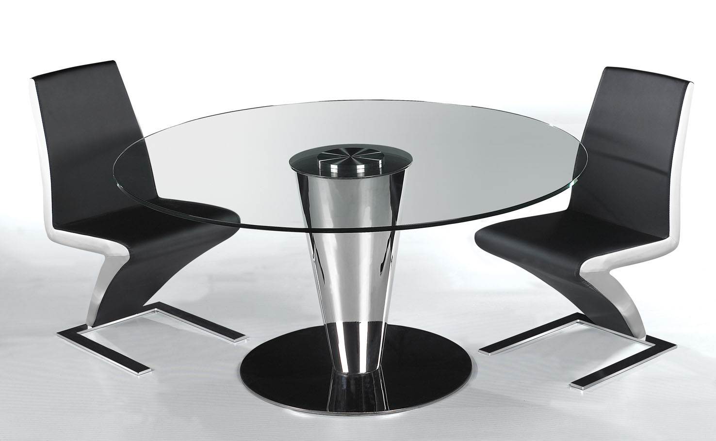 Glass Furniture - Dining Table /Chair (NT152 NY025)