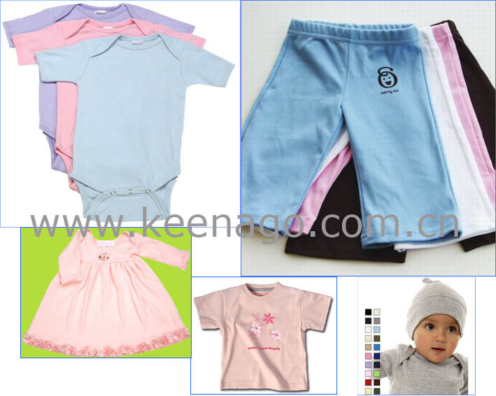 100% Cotton Plain Baby Clothes for Unisex with Different Styles